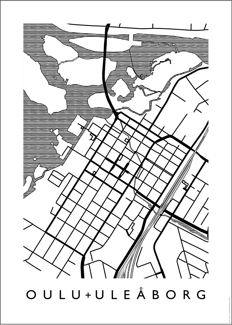 MAP Oulu  -juliste 50 x 70 cm