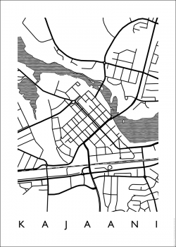 MAP Kajaani -juliste 50 x 70 cm